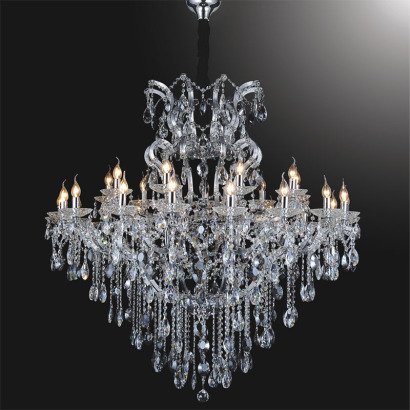 Sunwolighting candle light crystal pendant chandelier Crystal candle chandelier