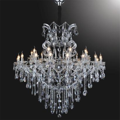 Sunwolighting Candle Light Crystal Pendant Chandelier